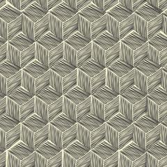 Seamless hand-drawn pattern rhombus. Vector