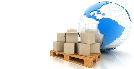 Globe and cartons