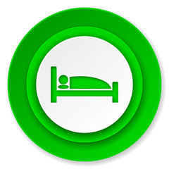 hotel icon, bed sign