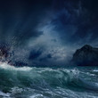 canvas print picture - Stormy sea