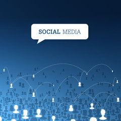 Social communications concept. Vector