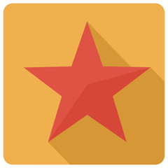 Flat star icon, vector