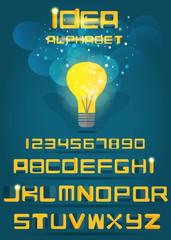 Idea alphabet. Vector EPS10.