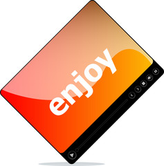 enjoy on media player interface