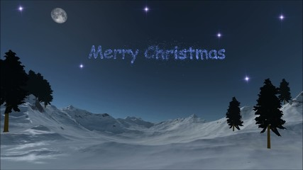 Merry Christmas - text on the sky