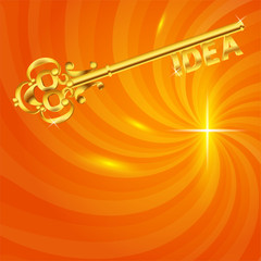 golden-key-idea-in-the-hot-energy-background