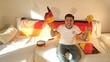 canvas print picture - Fußballfan Deutschland Spiel freut sich
