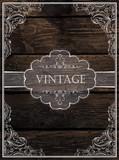Vintage Card Design. Vector