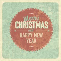 Christmas Greeting Vintage Poster. Vector