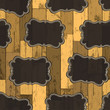 Seamless Wild West Labels Pattern. Vector