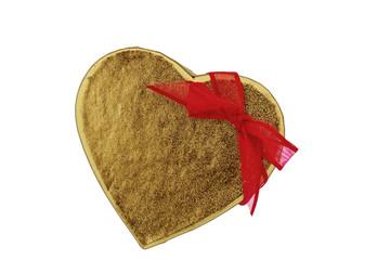 Schachtel Herzform als Geschenk