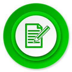 subscribe icon, write sign