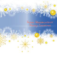 Schnee - Glückwunschkarte
