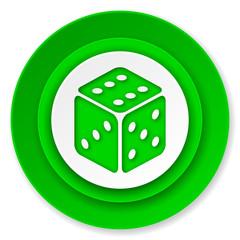 casino icon, hazard sign