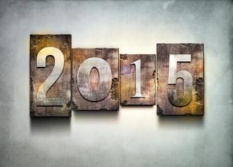 Year 2015 letterpress.