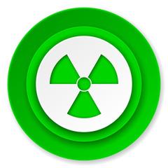 radiation icon, atom sign