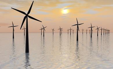 Tientallen windmolens in groot molenpark
