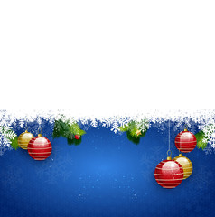 blue christmas background winter