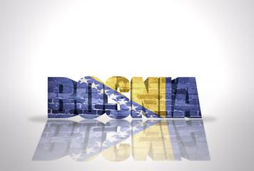 Word Bosnia  on the white background