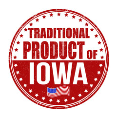 Traditional product of Iowa stamp
