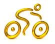 Golden cyclist