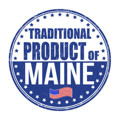 Traditional product of Maine stamp