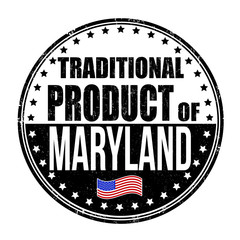 Traditional product of Maryland stamp