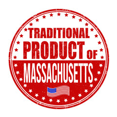 Traditional product of Massachusetts stamp