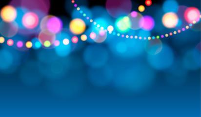 Holiday lights (Christmas card)