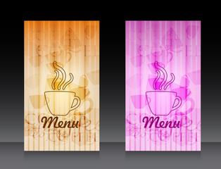 Menu for cafe, bar, coffeehouse