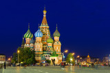 Fototapeta Night view of Saint Basil's Cathedral in Moscow. Russia