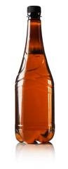 bottle of beer isolated on the white background
