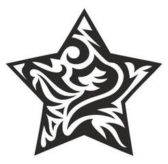 tribal star, vector illustration