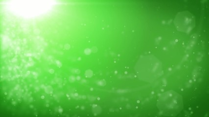 Abstract green Christmas background with bokeh defocused lights