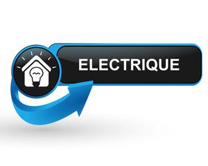 électrique sur bouton web design bleu