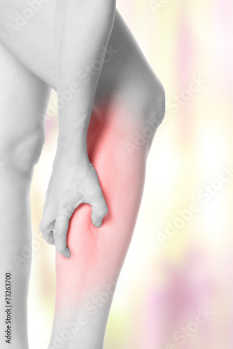 Muskelkrampf in der Wade Poster