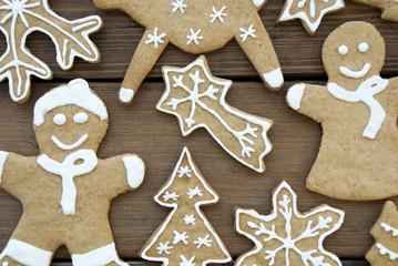 Close up von Gingerbread Weihnachtsplätzchen