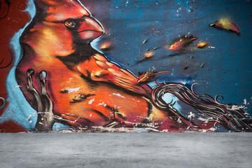 background graffiti red bird