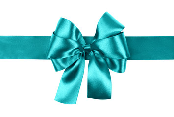 cyan bow photo made from silk