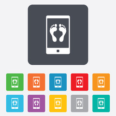 Selfie legs sign icon. Self feet photo symbol.
