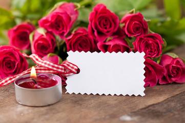 Rosen mit Blankolabel 12