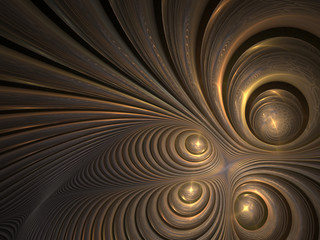 Abstract metalic fractal pattern