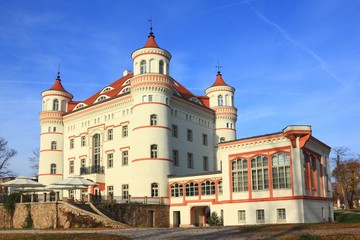 Historic building of Palace Wojanow in Poland