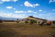 canvas print picture - Castle  Lacalaora, Granada, Andalusia, Spain