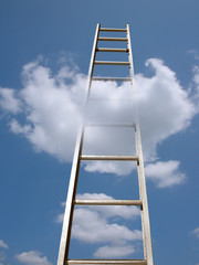 ladder in the clouds