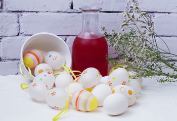 Chicken eggs Easter