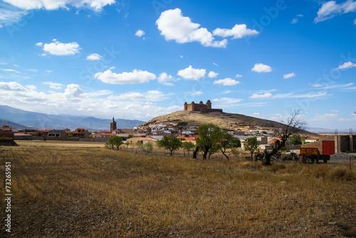 canvas print picture Castle  Lacalaora, Granada, Andalusia, Spain