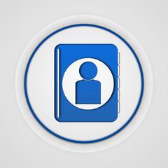 Profile circular icon on white background