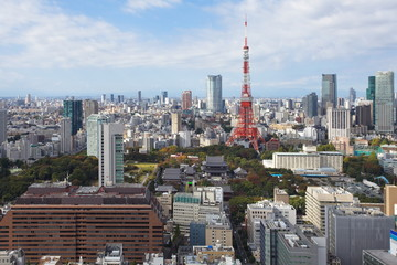 tokyo city view with Tokyo tower