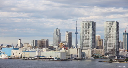 Tokyo city view with Tokyo sky tree